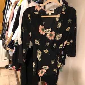 Flower cross blouse